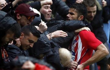 Diego Costa anotó y fue expulsado en la victoria del Atlético de Madrid
