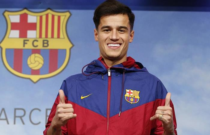 Coutinho fue presentado por el Barcelona