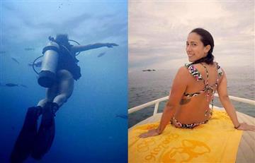 Mariana Pajón se roba todas las miradas con su espectacular cuerpo mientras bucea