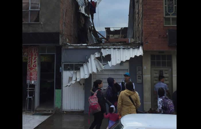 Vendaval al sur de Bogotá afectó más de 90 viviendas