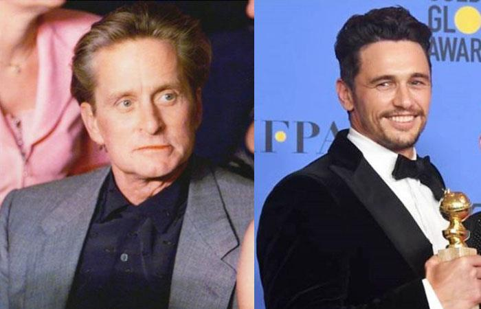 Michael Douglas y James Franco reaccionaron ante acusaciones de acoso sexual