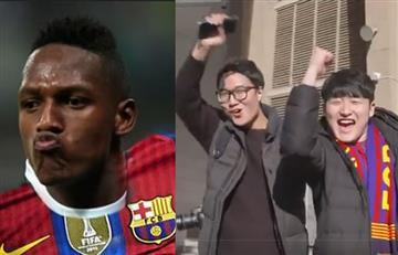 Yerry Mina al Barcelona: Aficionados de todo el mundo le dan la bienvenida al colombiano