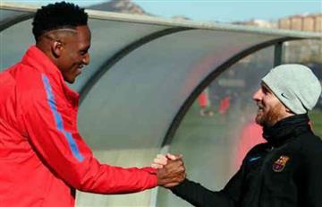 Barcelona: Lionel Messi ya le dio la bienvenida a Yerry Mina