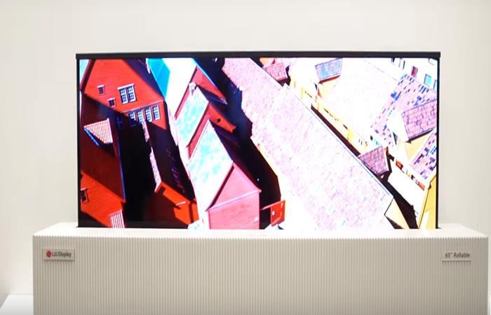 CES 2018: LG presenta la primera pantalla de televisión enrollable