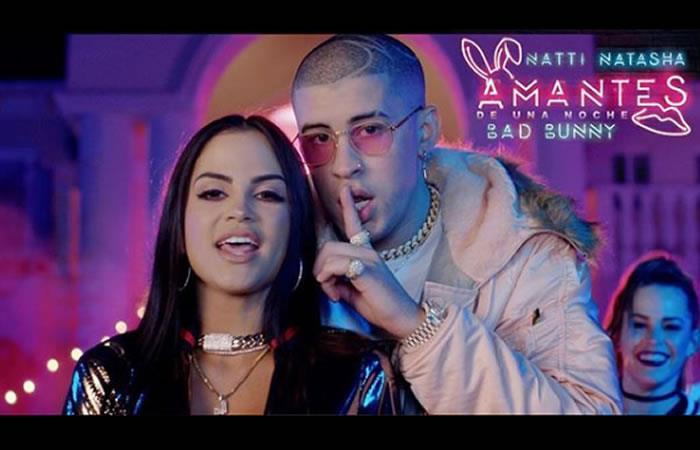 Natti Natasha y Bad Bunny estrenan video de 'Amantes de una noche'