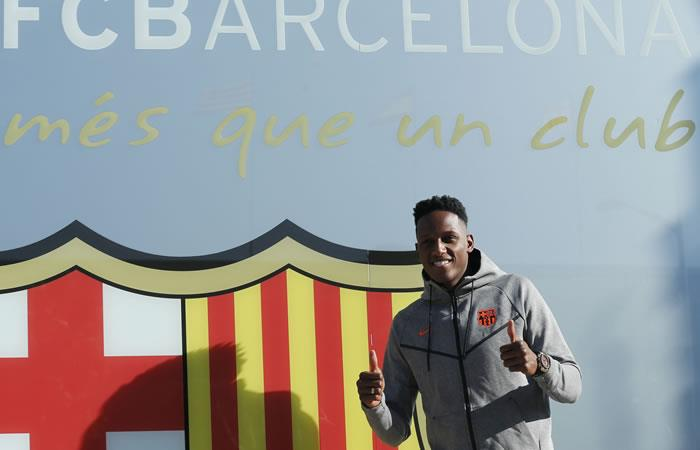 EN VIVO: Yerry Mina es presentado en el Camp Nou del Barcelona