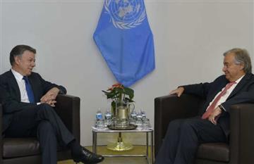 Secretario de la ONU llegó a Colombia para reunirse con Santos