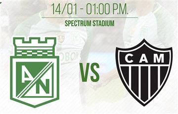 Atlético Nacional vs. Atlético Mineiro: EN VIVO por TV por la Florida Cup