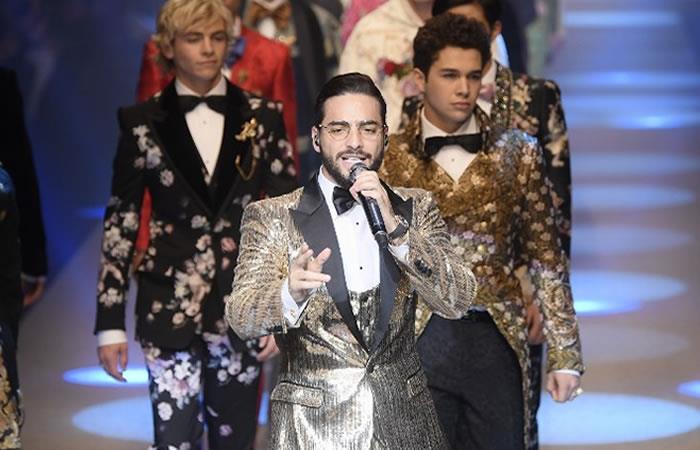 Maluma brilla en desfile de Dolce & Gabbana en Milán