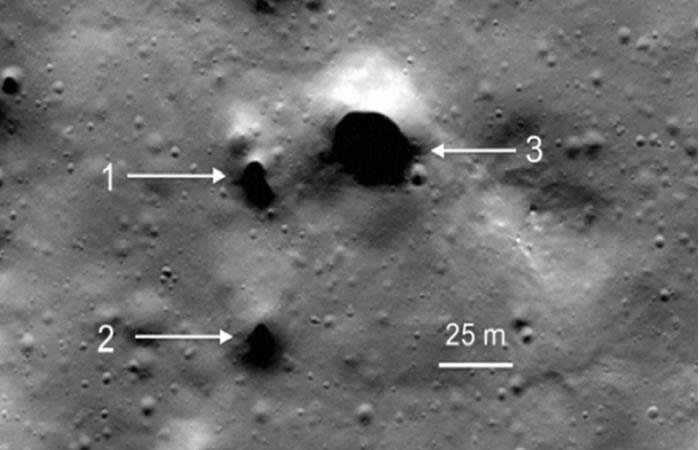 NASA: Impresionantes imágenes de pozos y agujeros en la Luna