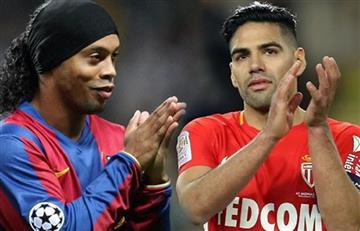 Falcao demuestra admiración por Ronaldinho y lo despide con emotivo mensaje
