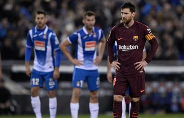 Sin Yerry Mina el Barcelona perdió el invicto ante el Espanyol
