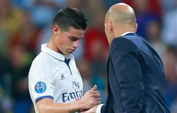 """Zidane: """"Me alegro mucho que a James le esté yendo bien en el Bayern"""""""