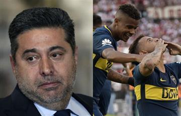 Presidente de Boca se manifiesta y dice lo que piensa hacer con Cardona y Barrios