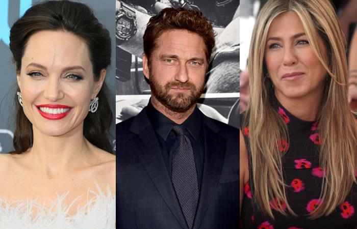 Gerard Butler reveló quién besa mejor ¿Angelina Jolie o Jennifer Aniston?