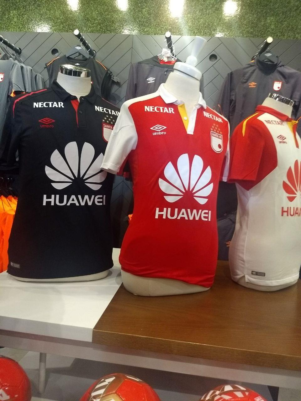 Estas serán las camisetas de Santa Fe para 2018. Foto. Colombia.com