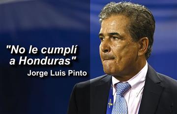 Jorge Luis Pinto: Entre lágrimas, el colombiano se despide de la selección Honduras