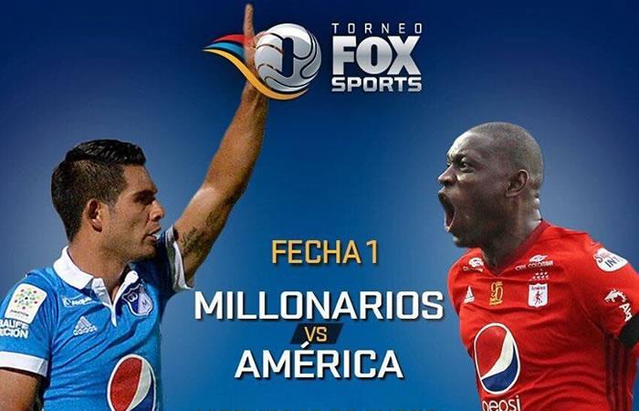 Millonarios vs. América: Transmisión EN VIVO en el Torneo Fox Sports