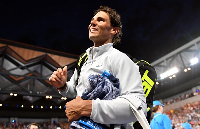 Rafael Nadal a los octavos de final en el Abierto de Australia