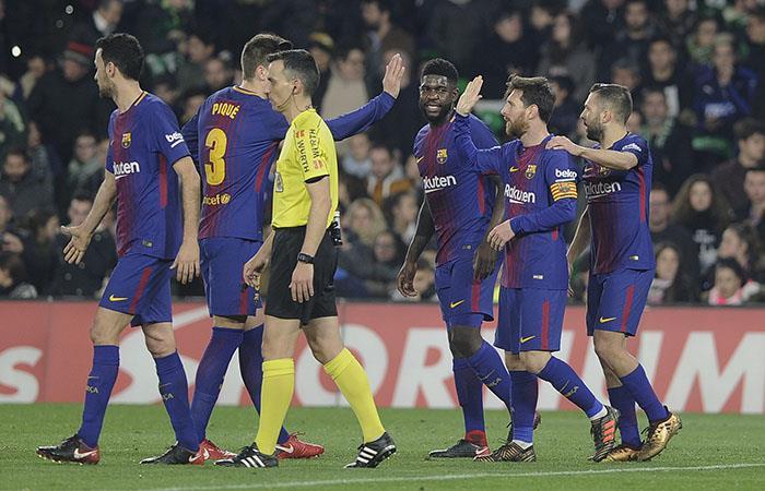 Barcelona sin Yerry Mina y sin compasión goleó 5-0 al Betis