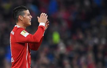 James Rodríguez se jugó un partidazo con el Bayern Múnich y asistió en dos ocasiones