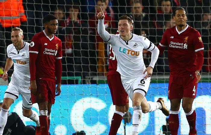 Liverpool tras derrotar al líder Manchester City, perdió con el colero