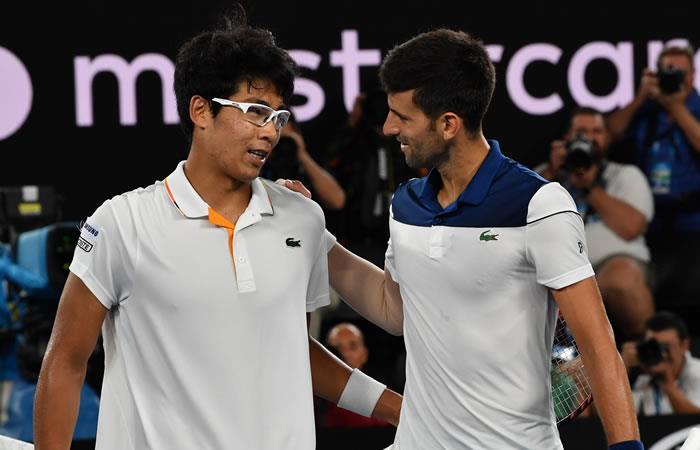 Novak Djokovic eliminado por un coreano que padece problemas en los ojos