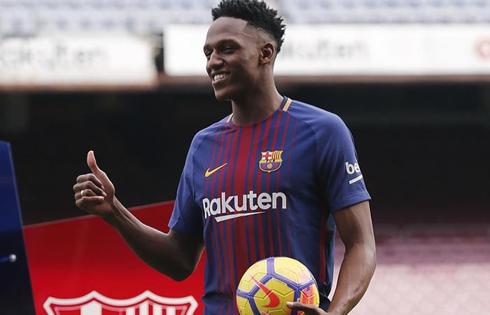 Yerry Mina podría debutar el jueves con el Barcelona