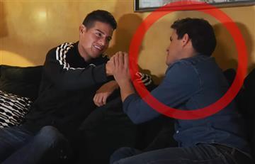 Edu Aguirre mostró todo lo que tuvo que hacer para entrevistar a James Rodríguez