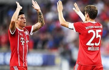 James Rodríguez otra vez en el 11 ideal de la Bundesliga