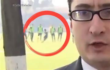 Carlos Quintero en medio de una polémica por intentar pegarle a un periodista