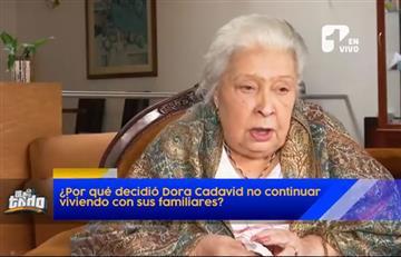 Dora Cadavid tomó la dura decisión de vivir en un ancianato