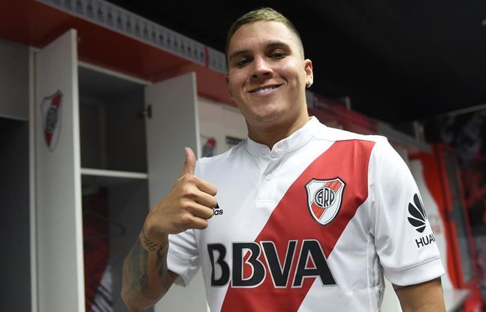 River Plate oficializó la llegada de Juan Fernando Quintero