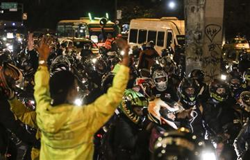 Bogotá: Masiva protesta de motociclistas por la medida de la alcaldía