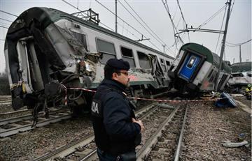 Tres muertos al descarrillar un tren cerca de Milán
