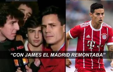 James Rodríguez: Hincha del Madrid enfurecido tras la derrota recordó al colombiano