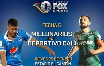 Millonarios vs. Cali: Transmisión EN VIVO del Torneo Fox Sports