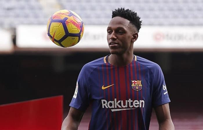 Yerry Mina  no jugó en la victoria del Barcelona en la Copa del Rey