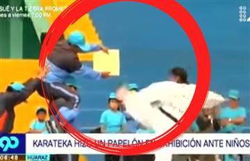 """Karateka quedó en ridículo al mostrar sus """"habilidades"""" frente a unos niños"""