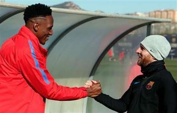 Lionel Messi contento por la llegada de Yerry Mina al Barcelona
