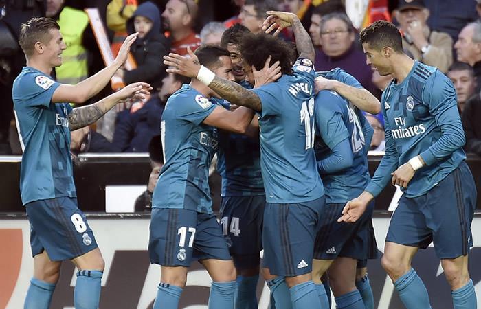 Real Madrid se reencontró y goleó al Valencia en Mestalla