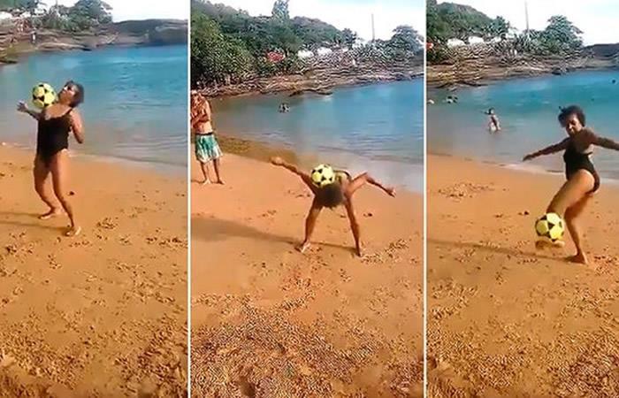 Video: Abuela brasileña deslumbra en redes por sus malabares con la pelota