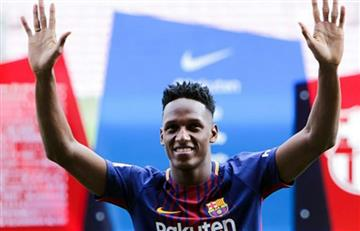 Yerry Mina sigue demostrando humildad, esto hará con lo que gane en Barcelona