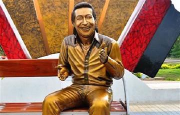 A escultura de Diomedes Díaz le robaron la medalla