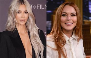 Kim Kardashian y Lindsay Lohan discuten por fogosas fotos