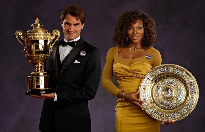 Roger Federer y Serena Williams. Foto: AFP