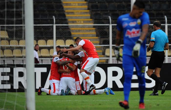 Santa Fe derrotó a Deportivo Táchira en Venezuela. Foto: AFP
