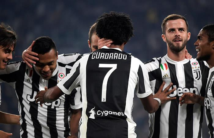 La Juventus de Cuadrado goleó a Sassuolo en Turín