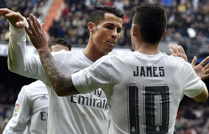 James Rodríguez sorprende a Cristiano Ronaldo con un mensaje de Feliz Cumpleaños