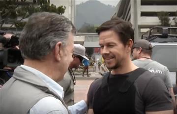 Santos visitó el rodaje de la película 'Mile 22' y así filmó una escena